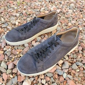 Vince Slater Graphite Black Leather Sneakers 11 45